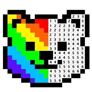 Pixel Art - Color by Numbers