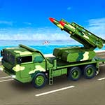 US Army Missile Attack : Army Truck Driving